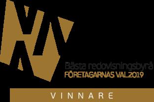Ekonomibyrån i Halmstad Bästa Redovisningsbyrån 2019 - Vinnare av Visma Accounting Awards  Företagarnas val Årets Redovisningsbyrå 2019