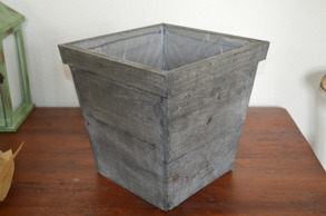 Krukor i trä - Grå - Stor 30 cm