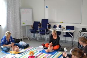 Spädbarnsmassage Läjeskliniken, Varberg