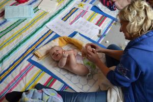 Spädbarnsmassage på Läjeskliniken, Träslövsläge