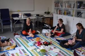 Spädbarnsmassage,Läjeskliniken, Varberg