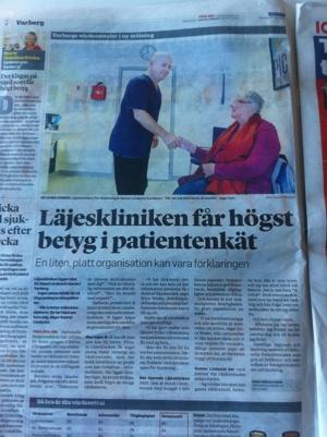 Läjeskliniken i Hallands Nyheter, 140324