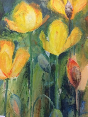 Målning av Britt-Marie Fabic