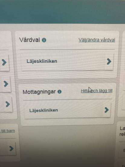 """""""Hitta och lägg till mottagning"""" via 1177.se"""