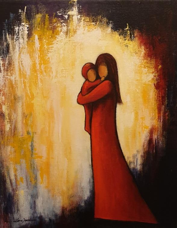 """""""Mamma och jag"""" av Lena Jacobsson"""