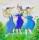3 kvinnor i blått Eva-Lena