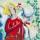 Eva-Lena måleri röd kvinna