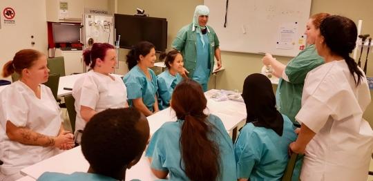 Praktiska övningar på Karolinska sjukhuset
