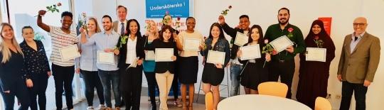 Undersköterskor med diplom och USK  brosch i Nacka