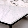 Soffbord i vit marmor, Fogelmarck Form