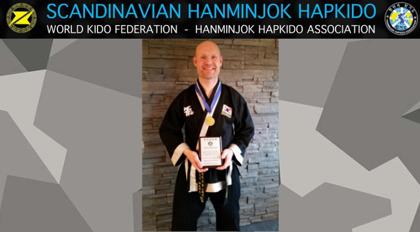 Guld medalj på Nordic Hapkido Cup - 2015 i grenen Mooki sul!