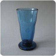"Edvin Ollers Kosta ""antique blue"" glass vase"
