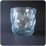 Vicke Lindstrand Orrefors vase in frosted glass