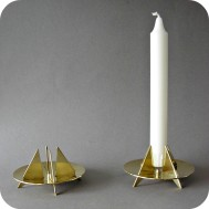 Candleholders brass Pierre Forsell