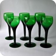 Six whitw wine glasses Simon Gate