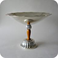 CG Hallberg Footed bowl of EPNS