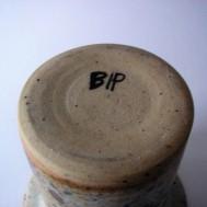 Signature on vase: BIP