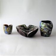 AVEM, Murano, Italy Three glass items