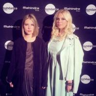 Director Ninja Thyberg and actress Jenny Hutton at Sundance Film Festival.
