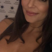Jenny Hutton at Västerås film festival, 2018. Swedish actress.
