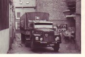Truck nr O 1590 is trucking a trailer from World Transport Agency Ltd in the mid-1960s