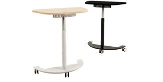 FORM2 Air serie är ett flexibelt bord på hjul som alltid bör finnas tillgängligt i varje mötesrum. Stativet går att få som eldrivet, batteri eller som gas. Höjdjustering 728-1128 mm