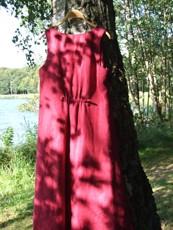 Linneklänning Lena med dragsko bak