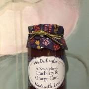 Cranberry & orange curd