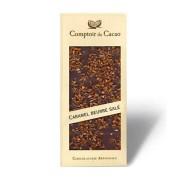 Mörk choklad med salt karamell 72%