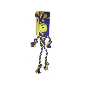 Leksak repgubbe m tennisboll armar o ben 49cm gul/blå - Leksak repgubbe m tennisboll armar o ben 49cm gul/blå