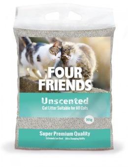 FourFriends Kattsand Oparfymerad - FourFriends Kattsand Oparfymerad 14 kg