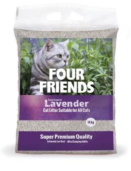 FourFriends Kattsand Lavendel - FourFriends Kattsand Lavendel 14 kg