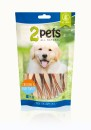 2pets Dogsnack Chicken&Fish Twist 100 g