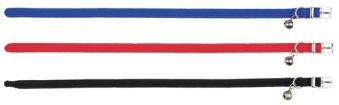 Katthalsband elastisk nylon bjällra - Blå