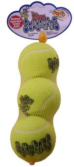 Kong Air Squeaker Tennisboll 3p - Tennisboll