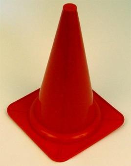 Markeringskon, 28 cm, röd -