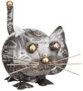 different design Smide katt silver rund