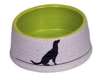 Keramikskål Luna - Grön/grå