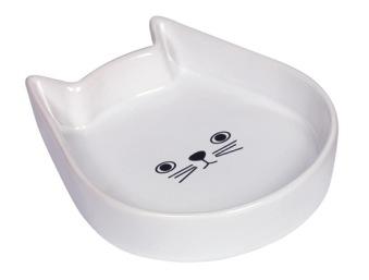 Keramik kattskål - Vit