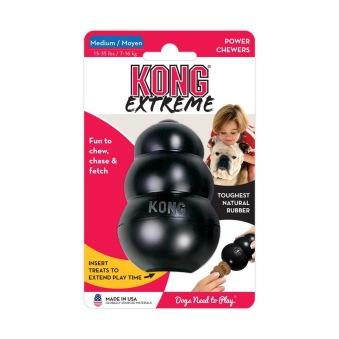 Kong Original gummi svart - M= 8,5x5,5cm