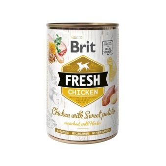 Brit Fresh Cans Chicken with Sweet Potato - 400 gr