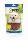 2pets Dogsnack Ostrich Cubes, 100 g