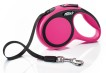 Flexi New COMFORT, M: 5 m band - Band 5 m Rosa