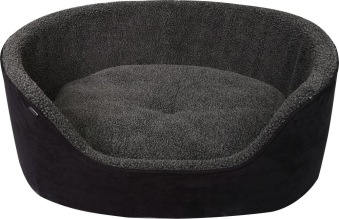 Bädd m hög kant Sherpa - 60x48x23cm svart/grå