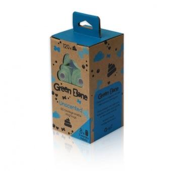 Green Bone Biobajspåsar Oparfymerad - Förpackning 8 rullar (totalt 120 påsar)
