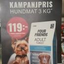 Four Friends hundfoder 3 kg