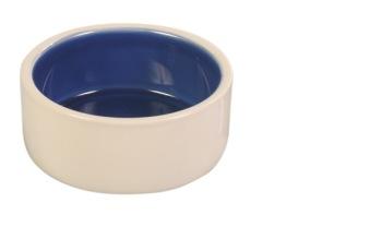 Keramikskål Vit/Blå - 0,4 L 12 cm
