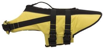 Flytväst för hund, gul/svart - M: 45 cm: 45-72 cm