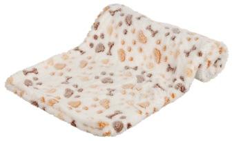 Lingo filt, vit/beige, 75 × 50 cm - Lingo filt