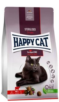 HappyCat Adult sterilised, nötkött - 1,3 kg